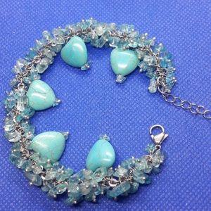 Aqua&Howlite bracelet